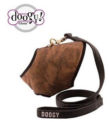 Picture of DOGGY LEATHER FEEL HARNESS + LEASH