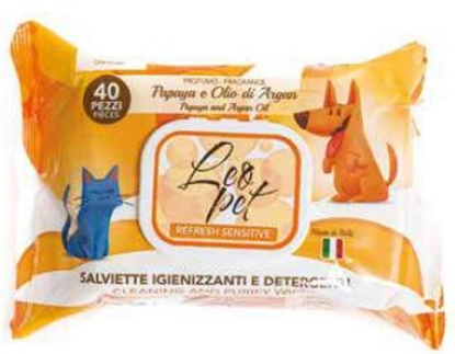Picture of LEOPET PAPAYA & ARAGON OIL WIPES