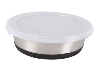 Picture of Show Tech Stainless Steel anti slip Bowl with Lid