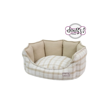 Picture of DOGGY Bed BEIGE CHECKED