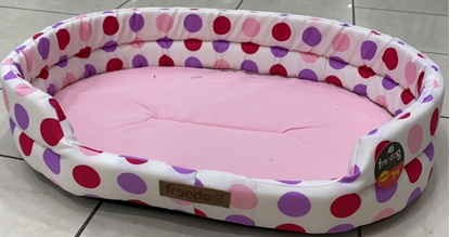 Picture of FREEDOG COLOURED DOTTED BED PINK