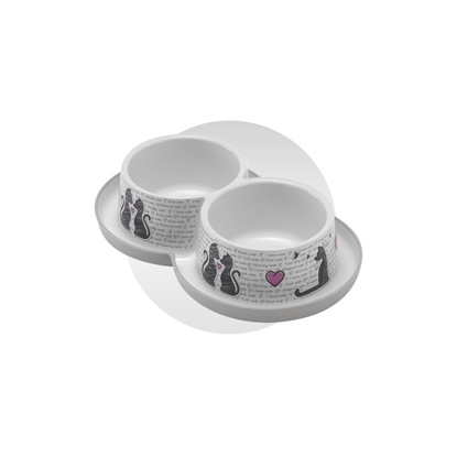 Picture of CATS IN LOVE DOUBLE BOWLS